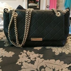Black and gold purse.